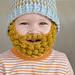 bobble bearded beanie pattern