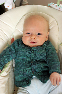 Sunnyside Top Down Knit Baby Sweater