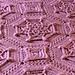 Bordeaux Matelassé Afghan pattern