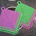 Petticoat Fever Potholder #9230 pattern