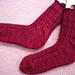 Rose Buds Socks pattern