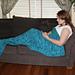 Ladies Mermaid Tail Lapghan Cocoon Blanket pattern