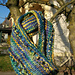 Rasta Eyelet Edge Mobius Cowl pattern