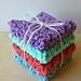 Blossom Stitch Washcloth pattern
