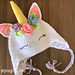 Unicorn Hat with Flowers pattern