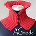 Bright red collar - neck warmer pattern