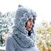 Cable hood & loop scarf pattern