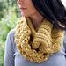 Block loop scarf pattern
