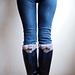 Bow legwarmers knit look boot cuffs pattern