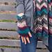 Everyday chevron fingerless mittens pattern