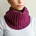 Knit look block ripples cowl pattern