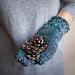 Star stitch knit look mittens pattern
