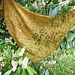 Falling blossoms shawl pattern