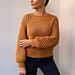 Honeycomb raglan sweater pattern