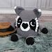 """Ricky"" the Raccoon Critter Cuddler pattern"