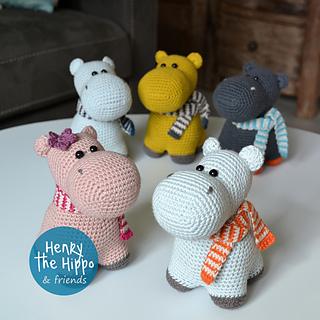 Little Hippo Timi Amigurumi Crochet Pattern | 320x320