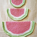 Watermelon Slice Wash Cloths pattern