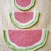 Watermelon Slice Wash Cloths pattern