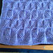 Reversible Diamond Texture Baby Blanket pattern