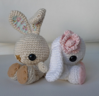 Baby Bunnies - three amigurumi bunny crochet patterns : PlanetJune ... | 310x320