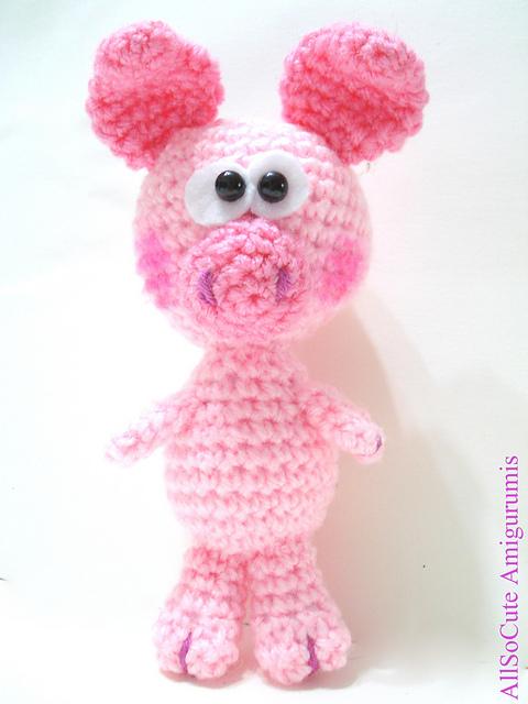 Baby Pig Crochet Toy - Free Crochet Pattern   Crochet toys ...   640x480
