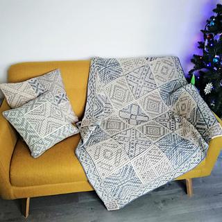 Mill Star Cushions          & White Star Blanket