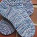 something blue, in koigu a sock recipe pattern