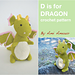 D is for Dragon pattern