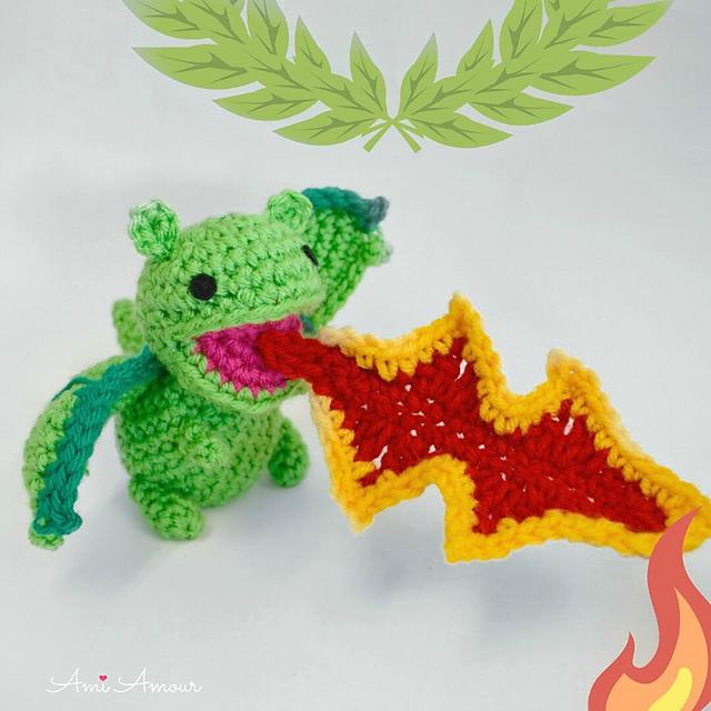 Adult Dragon Crochet Amigurumi Pattern DIGITAL PDF by Crafty ... | 640x640