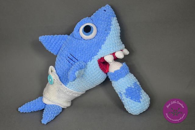 Amigurumi Shark Keychain häkeln – Stricken Wolle | 426x640