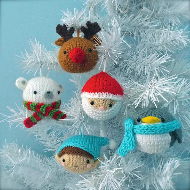 Christmas Set.Christmas Balls Knit Ornament Pattern Set Pattern By Amy Gaines