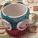 Janus the Owl Coffee Cup Cozy pattern