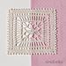 Lily square motif pattern