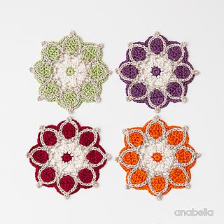 Ravelry Winter Flowers Coasters Pattern By Anabelia Handmade