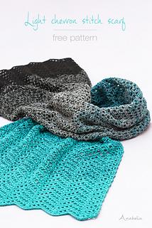 Light Chevron Stitch scarf - free pattern