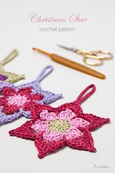 Christmas crochet Star Ornament