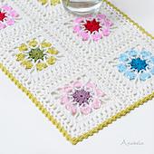 Flowers tablecloth plus 2 flower square sizes patterns