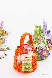 Halloween crochet candy bags