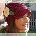 Beanie with Visor detachable flower - No. 4 pattern