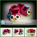 No. 23 Owl Mary Janes Slippers pattern