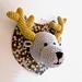 Trophée cerf crocheté pattern