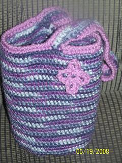 Crochet flower tote