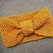 Seed Stitch knitted headband pattern