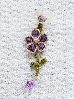 Pacifier Clip Flower