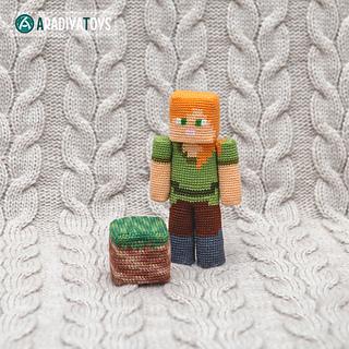 Minecraft amigurumi - Steve and some creepers | Stricken und ... | 320x320