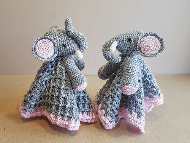 Ravelry Ella The Elephant Baby Lovey Pattern By Crafting Happiness