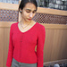 A Little Lace V-neck Sweater pattern
