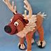 "Crocheted Reindeer, based on ""Frozen's"" Sven pattern"