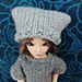 Arctic gray hat for doll pattern
