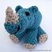 Rupert the Baby Rhinoceros pattern